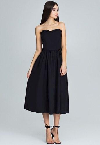 432b36be4da6 FIGL Čierne šaty bez ramienok M602 - Glami.sk