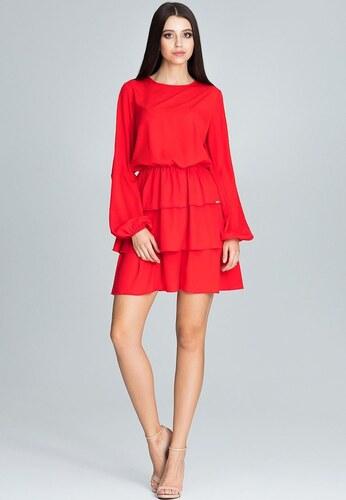 b2776bdf0e25 FIGL Červené skladané šaty M601 - Glami.sk