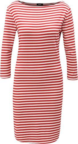 d104bbcf8c1 Bílo-červené pruhované šaty s 3 4 rukávem ZOOT - Glami.cz