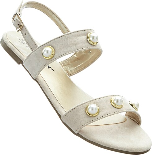 BODYFLIRT Bonprix - Sandales beige pour femme - Glami.fr 88dfde426416