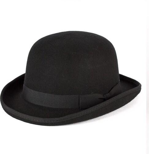 Černá buřinka pánský klobouk 100 % vlna Mes 85015 - Glami.cz 86d50ef804