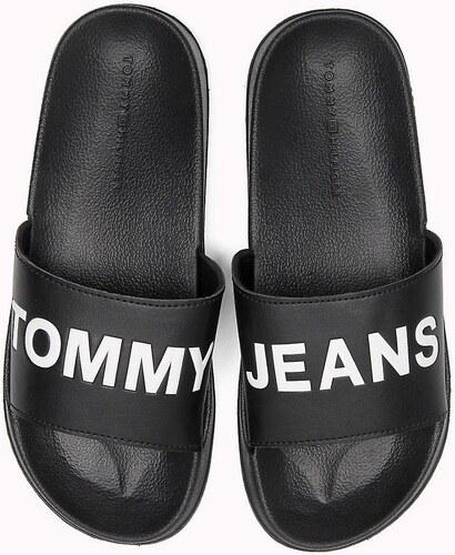 Tommy Hilfiger černé pantofle Tommy Jeans Pool Slide Black - 41 42 ... 0b69c605c3