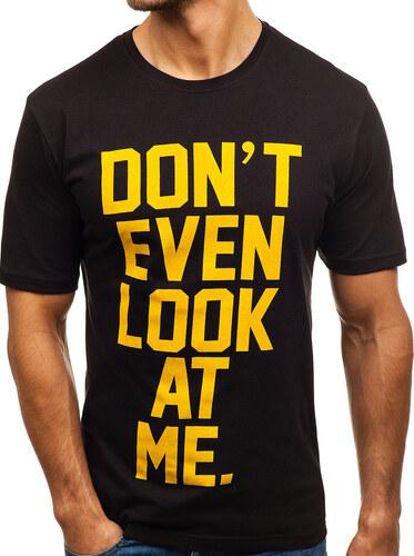 3750aa45f6649 Čierne pánske tričko s potlačou BOLF 6294 - Glami.sk