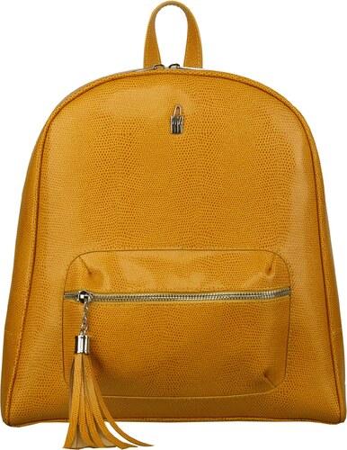 98e6957be7 Elegantný dámsky luxusný kožený batoh žltý Wojewodzic 31739 - Glami.sk