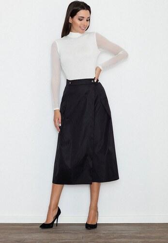 FIGL Velká černá skládaná sukně M554 - Glami.cz 6049c0cb28