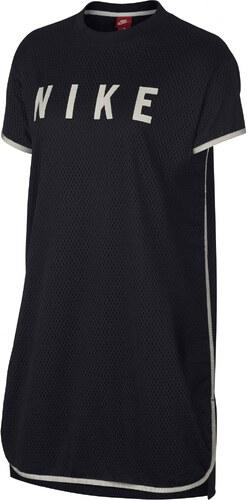 eb448d20889e Dámské Šaty Nike W NSW DRSS MESH BLACK LIGHT BONE - Glami.cz