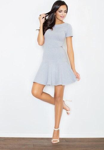 5d4eff5aa561 FIGL Šedé šaty s voľne strihanou sukňou M363 - Glami.sk