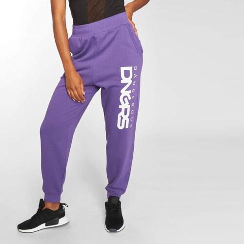 Dangerous DNGRS   Sweat Pant Soft Dream Leila Ladys Logo in purple ... c95e93c26b