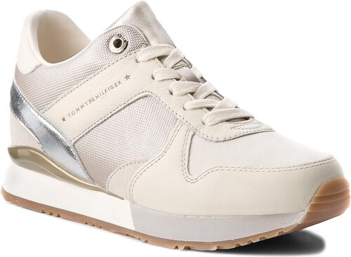 Sneakersy TOMMY HILFIGER - Sneaker Wedge FW0FW02977 Whisper White ... 322a3ea055