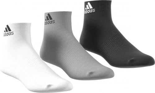 Ponožky adidas Performance PER ANKLE T 3 PÁRY (Černá   Šedá   Bílá ... 68dc623aaa