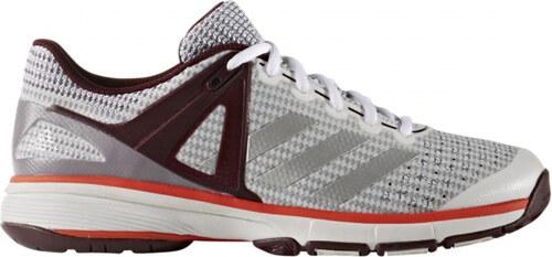 5b26681f64d Dámské sálové boty adidas Performance Court Stabil 13 W (Bílá   Stříbrná    Červená)
