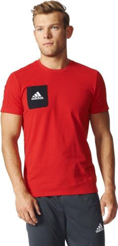 Pánske tričko adidas Performance TIRO17 TEE (Červená   Čierna   Biela) 0a197c7a702