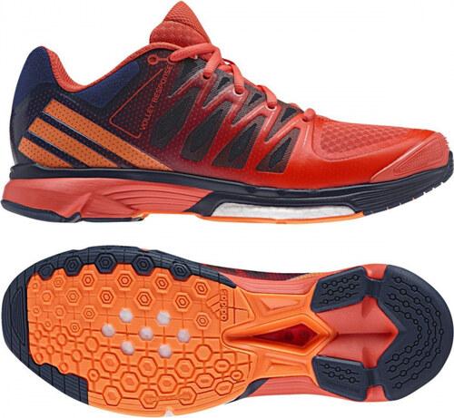bb733c2f4b0f Dámske sálové topánky adidas Performance Volley Response 2 Boost W (Tmavo  modrá   Oranžová
