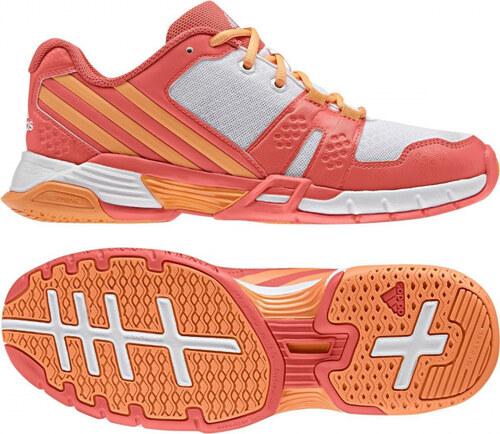 dc31fa88fa92 -50% Dámske sálové topánky adidas Performance Volley Team 4W (Oranžová    Biela)