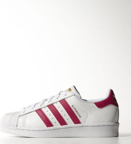 65c551d7f3 Dievčenské tenisky adidas Originals SUPERSTAR FOUNDATION J (Biela   Ružová)