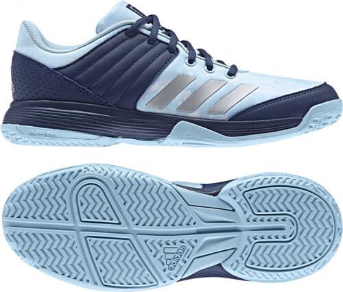 Dámské sálové boty adidas Performance Ligra 5 W (Modrá   Stříbrná   Bílá) 4d722b9097e