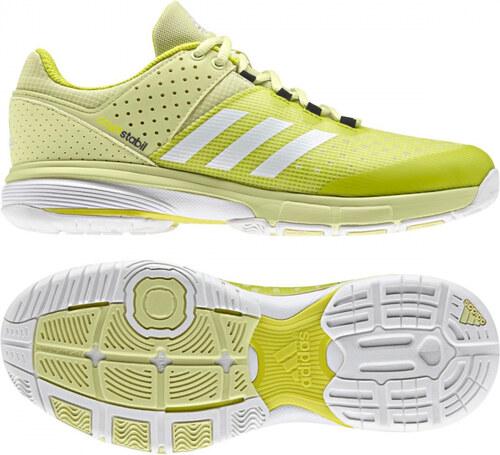 Dámské sálové boty adidas Performance COURT STABIL W (Žlutá   Bílá   Černá) a5c4200591
