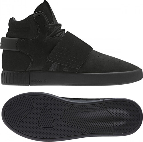 b955edb17f9b7 Pánske členkové topánky adidas Originals TUBULAR INVADER STRAP (Čierna /  Biela)
