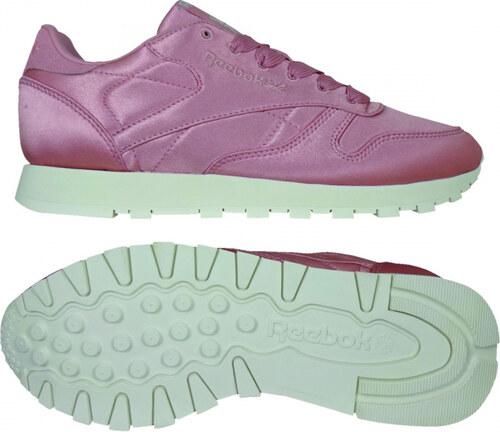 Dámske tenisky Reebok CL LEATHER SATIN (Ružová) - Glami.sk 9959a6c31c5