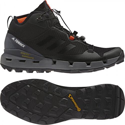 095d9b5f4e96b Pánske členkové topánky adidas Performance TERREX FAST MID GTX-SURROUND ( Čierna / Šedá)