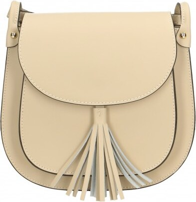 ... Kožená větší béžová crossbody kabelka na rameno bella VERA PELLE 21986 aa0deb1b30e