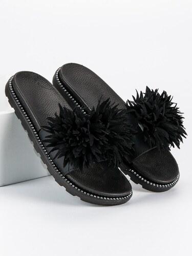 cde762a060b MILUJEME BOTY Pantofle s černou kožešinou - Glami.cz