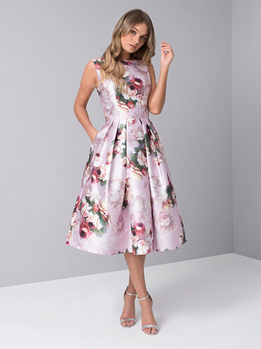Společenské šaty s růžemi Chi Chi London Karlene - Glami.cz a5d22d25ae