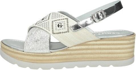 0c7b3e0d64a3 Cerutti dámske elegantné sandále s ozdobnými kamienkami - strieborné ...
