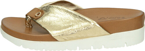 afa42b9ac557 Inuovo dámske elegantné šľapky na klinovej podrážke - zlaté - Glami.sk