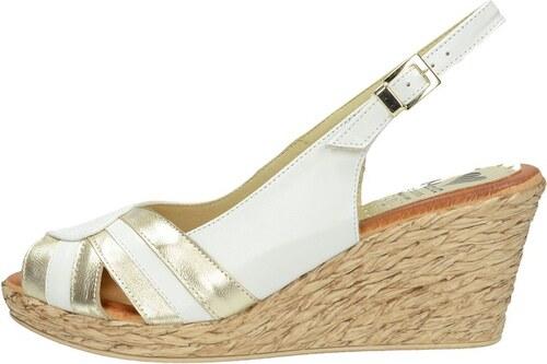 7ba7be8525a1 Marila dámske elegantné sandále na klinovej podražke - biele - Glami.sk
