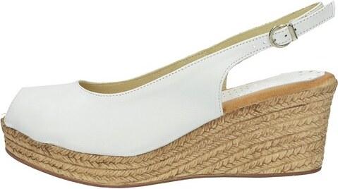 431a03b93539 Marila dámske elegantné sandále na klinovej podrážke - biele - Glami.sk