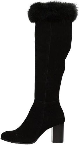 f8507834ee Olivia shoes dámske vysoké semišové čižmy - čierne - Glami.sk