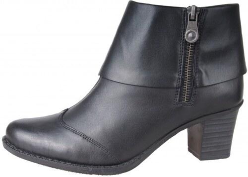 cba451279e34 Rieker dámske kotníky s ozdobným zipsom - čierne - Glami.sk