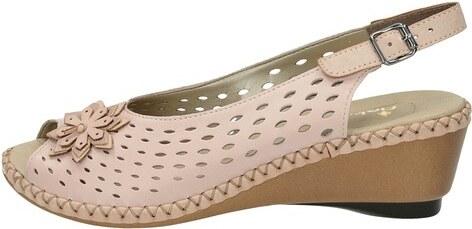 711d50828fa0 Rieker dámske perforované sandále na klinovej podrážke - ružové ...