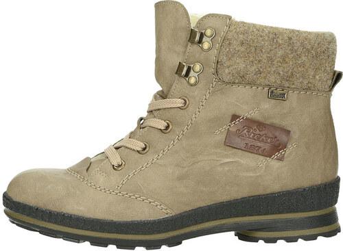 d05244c6b344 Rieker dámske zimné členkové topánky - béžové - Glami.sk
