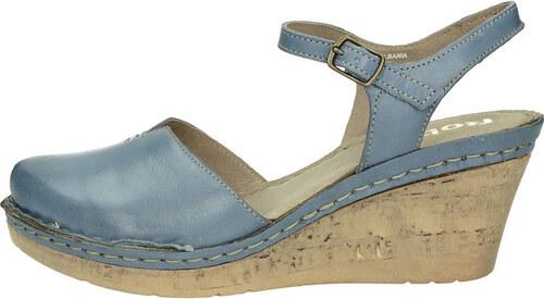 2a6890c2c2 Robel dámske kožené sandále - modré - Glami.sk