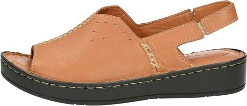 1399919127f6 Robel dámske praktické pohodlné sandále - hnedé - Glami.sk
