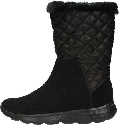 Skechers Skeches dámske zateplené štýlové čižmy - čierne - Glami.sk a9ff029c633