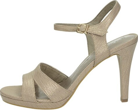 5dcc6a0b60e1 Tamaris dámske elegantné sandále s remienkom - zlaté - Glami.sk