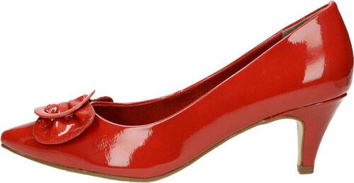 Tamaris dámske lodičky - červené - Glami.sk 3045384b94