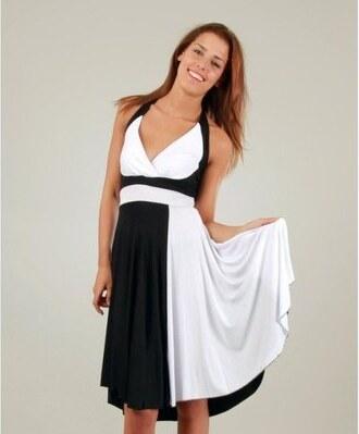 Dámské černo-bílé šaty a la Marylin Monroe Ginger Ale - Glami.cz 52eaaac17f
