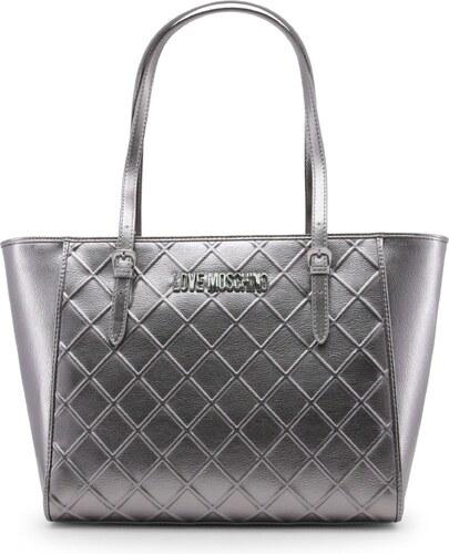 39a9b54e2 LOVE MOSCHINO Dámská velká kabelka typu Shopper Love Moschino Stříbrná