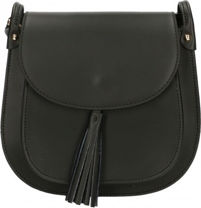 Kožená černá crossbody kabelka na rameno bella VERA PELLE 21986 ... f288d8c5d33