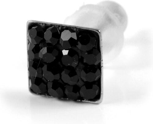 7f52deca8 Trendhim 5 mm čierna náušnica so zirkónmi - Glami.sk