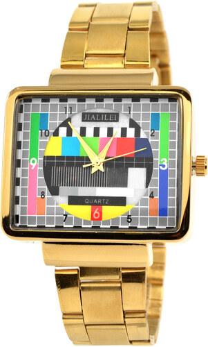 Fort Tempus Retro TV hodinky zlaté barvy 4728f80b8c