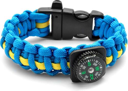 Tailor Toki Modrý náramok Paracord s kompasom - Glami.sk 402a5d1aec4