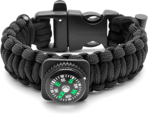 Tailor Toki Čierny Paracord náramok s kompasom - Glami.sk b50c99f0be5