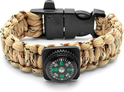 Tailor Toki Paracord náramok s kompasom a kresadlom v pieskovej farbe ed4a0de1aa6
