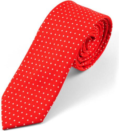 f0c161d12da Tailor Toki Červená bavlněná kravata s bílými puntíky - Glami.cz