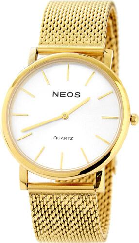 1bd28f1b4a8 NEOS Zlato-bílé klasické hodinky - Glami.cz